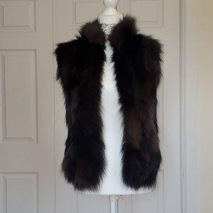 BCBG Max Azria Real Fox Fur vest sz XXS or XS